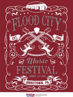Presenting the 2016 t shirt design flood city music festival for T shirt design festival