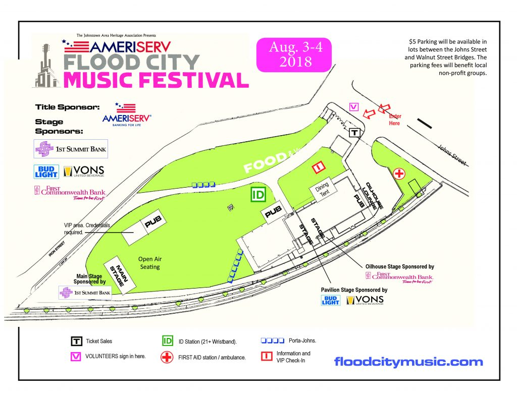 festival layout and map flood city music festival